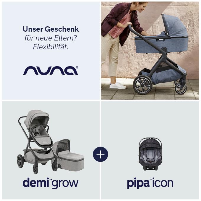 nuna demi grow Erstausstattungs-Bundle mit Babyschale pipa icon i-Size kostenlos | online kaufen bei KidsComfort.eu
