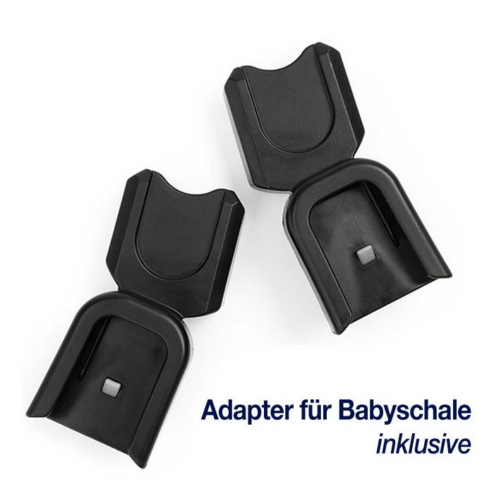 Babyschalen Adapter im Lieferumfang enthalten