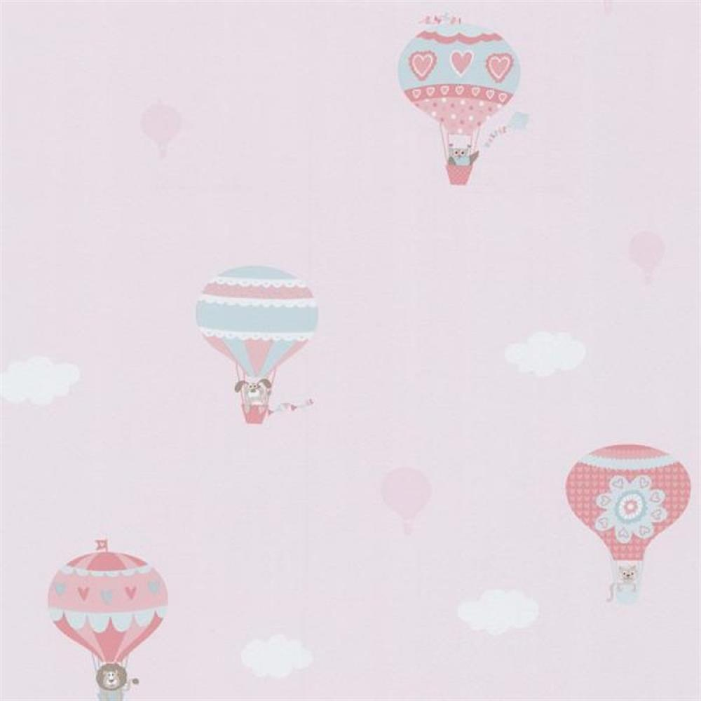 p s international happy kids 05573 20 tapete muster ballon rosa. Black Bedroom Furniture Sets. Home Design Ideas