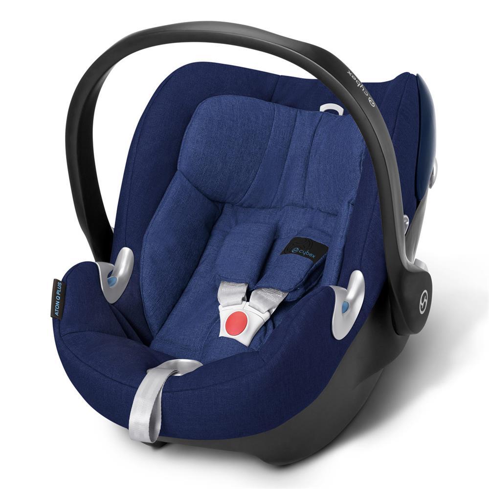 cybex aton q plus babyschale 2016 royal blue. Black Bedroom Furniture Sets. Home Design Ideas