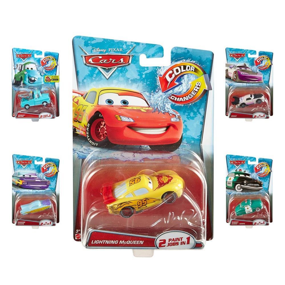 Mattel Disney Pixar Cars color changing vehicles