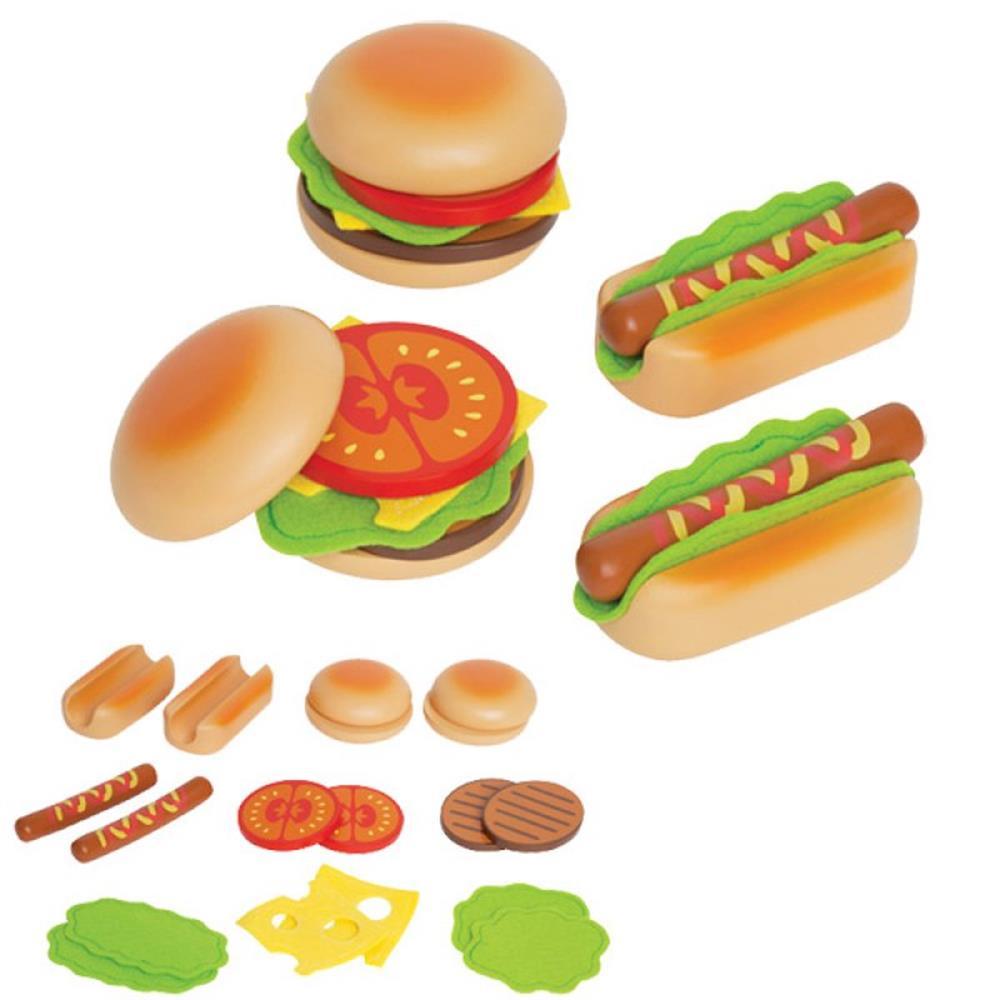 Hape hamburgers hotdogs fits kinderkuche for Hape kinderküche