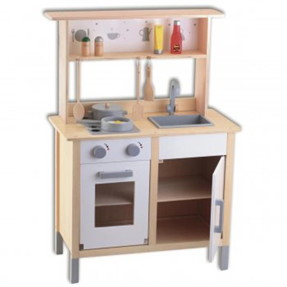 Beeboo kinderkuche aus holz mit aufsatz for Kinderküche aus holz