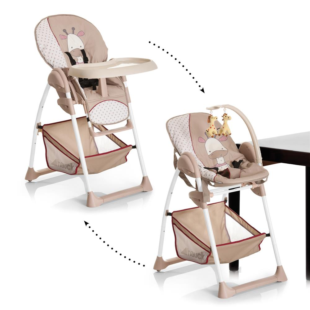 hauck sit n relax 2in1 hochstuhl f r neugeborene giraffe. Black Bedroom Furniture Sets. Home Design Ideas