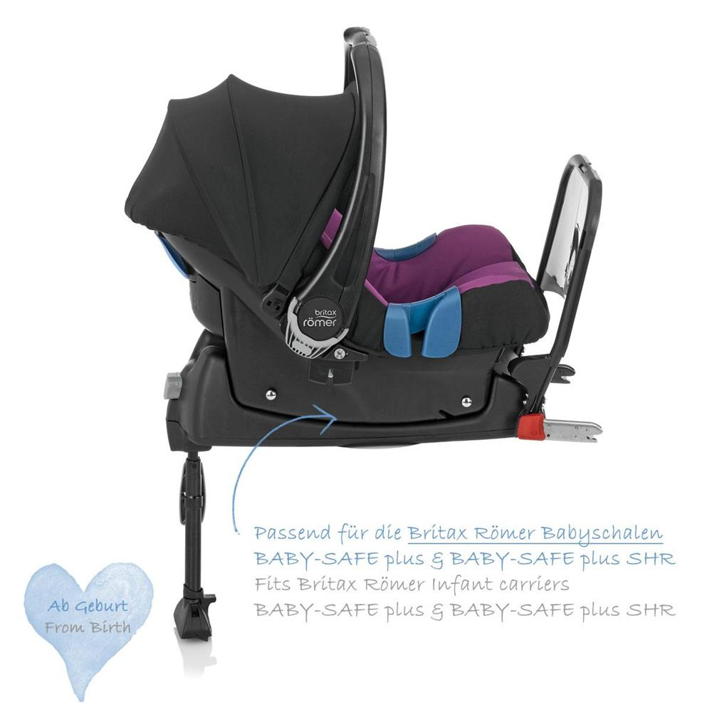 britax r mer base isofix f r baby safe plus ii und baby. Black Bedroom Furniture Sets. Home Design Ideas