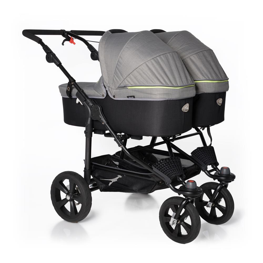 Zwillingskinderwagen mit babyschale  TFK Twin Trail Zwillingskinderwagen | KidsComfort.eu