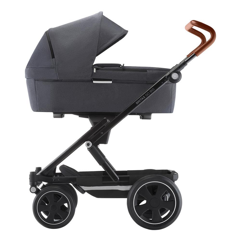 britax gobig2 3in1 kinderwagen graphite melange cognac. Black Bedroom Furniture Sets. Home Design Ideas