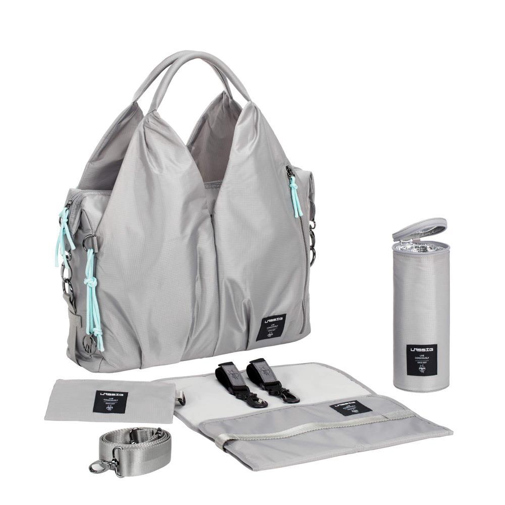 l ssig green label neckline bag pop grey. Black Bedroom Furniture Sets. Home Design Ideas