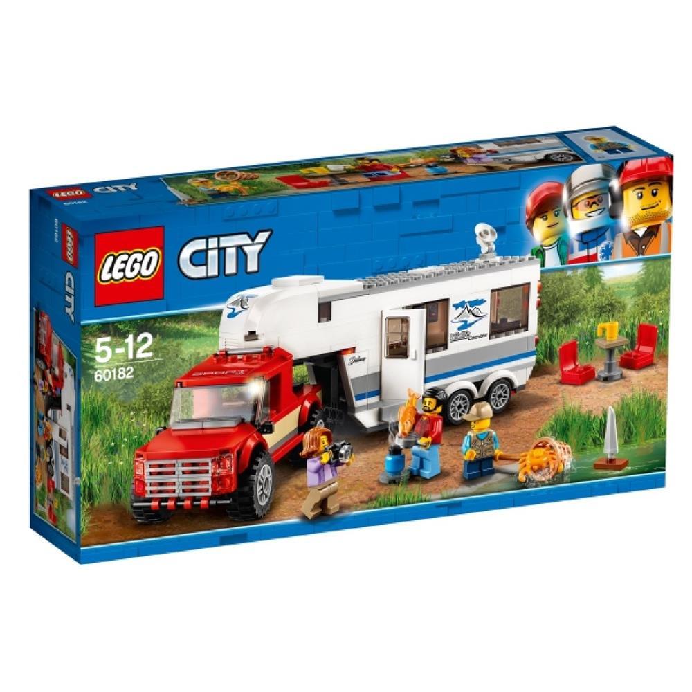 lego city spielzeug pickup wohnwagen 60182. Black Bedroom Furniture Sets. Home Design Ideas