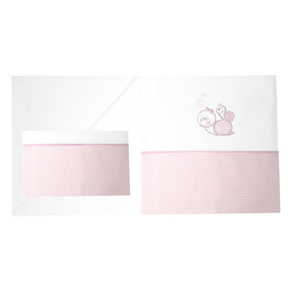 minou bio bettw sche 80x80 35x40 cm schnecke rosa gestreift. Black Bedroom Furniture Sets. Home Design Ideas