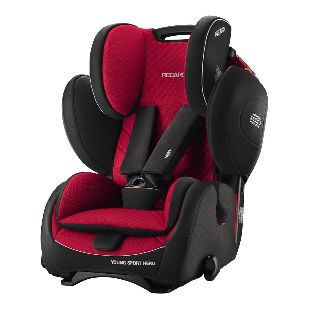 recaro child car seat young sport hero design 2017 racing red. Black Bedroom Furniture Sets. Home Design Ideas