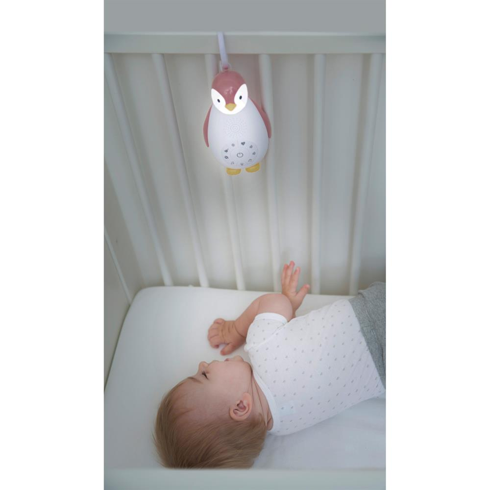 Grey Zazu ZOE the Penguin Bluetooth Music Box with Nightlight