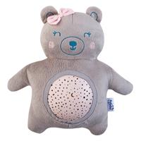 Pabobo Musical Stars Projector Plush Bear Pink