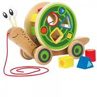 Hape Shape Sorter and Pull Figure Snail