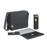 Lässig Wickeltasche Casual Messenger Bag Triangle Dark Grey Detail 02