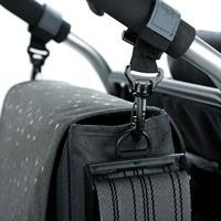 Lässig Wickeltasche Casual Messenger Bag Triangle Dark Grey Detail 05