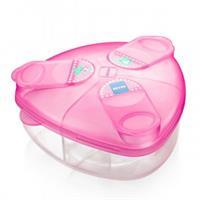 MAM Milchpulver Box mit 3 Kammern Pink