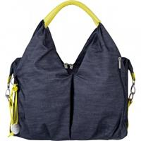 Lässig Green Label Neckline Bag Wickeltasche Denim Blue