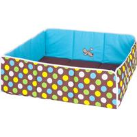 Herlag Playpen insert square / rectangular 75x100cm - 100x100cm Waldi blue/brown dotted