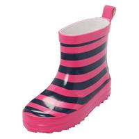 Playshoes Wellies Ringel navy-pink, selectable size