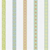 P+S International Happy Kids 05584-20 Tapete Streifen grün orange weiß