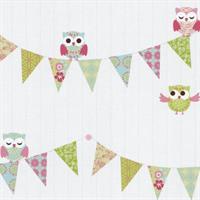 P+S International Happy Kids 05585-20 Tapete Muster Eule Eulen weiß rosa grün blau