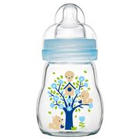 MAM Feel Good Baby Glas-Flasche 170 ml Blau