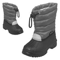 Playshoes Winter-Bootie Winterstiefel mit Warmfutter Grau Gr. 24/25