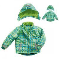 Playshoes Snow Jacket Winter Jacket Gr. 128 karo Green/türkis