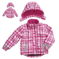 Playshoes Snow Jacket Winter Jacket Gr. 128 karo pink