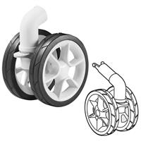 Quinny Front Wheel + Suspension for Stroller Moodd in White