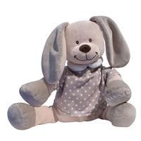 Babiage Doodoo Hase Plüschtier Einschlafhilfe für Babys Braun Gepunktet