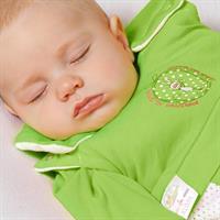Odenwälder Mini BabyNest prima klima Jersey Schlaf 1306 Sterne weiss blau Detailansicht 01