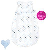 Odenwälder Mini BabyNest prima klima Jersey Schlafsack Sterne - 50 cm 1306 Sterne weiss-blau