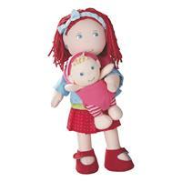 Haba Puppe Rubina mit Baby und Babytrage