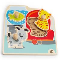 Hape Knopfpuzzle Meine Haustiere