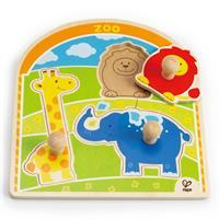 Hape Knopfpuzzle Im Zoo, 4tlg.