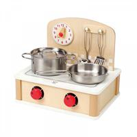 Hape stove fits inside & outside
