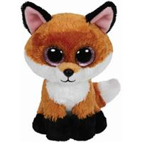 Ty Plush Animal Beanie Boos Glubschi's approx. 24cm - Slick Buddy-Fox brown