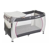 Babymoov Travel Cot Silver Dream + Changer Grey/hibiskus