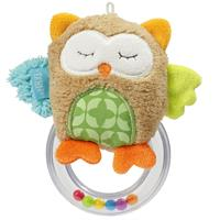 Babyfehn Sleeping Forest Rattle Ring Owl