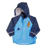 Playshoes Raincoat Mouse & Elephant Soccer, size selectable