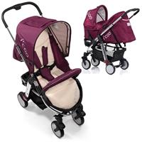 i'coo Buggy Primo Duo Set with Carrycot - Violet Festival