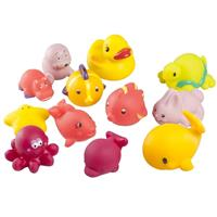 Babymoov Spray Animals Bath Toy Bath Friends 12-pieces Boy or Girl selectable