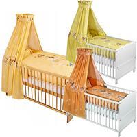 Zöllner Bett Set - Bettwäsche Nestchen Himmel Herzbär