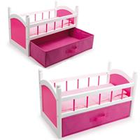 Legler - Doll's bed Pink with foldable drawer