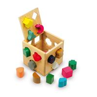 Legler - Plug-in cube, Training of fine motor skills and shape recognition
