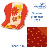 Geuther Sitzverkleinerer 4737 für alle Hochstühle (außer Swing) Rot / Orange / Punkte