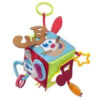 Babymoov SPIELWÜRFEL mit Rassel, Knisterpapier, Quietsche, Bänder, Ringe und Spiegel
