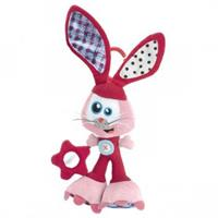 Babymoov activity cuddly toy Bunny with Rattle, crinkle paper, mirror and velvet